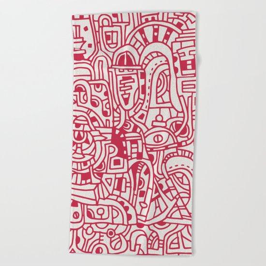 Red Dot Beach Towel