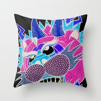 panther Throw Pillows featuring panther by Karlosh