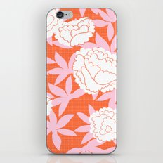 Zen Floral _ pink& coral iPhone & iPod Skin