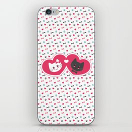 Cats in love iPhone Skin