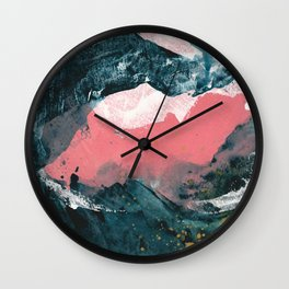 upside down town Wall Clock