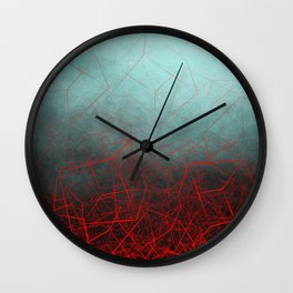 Abstract Boxes Underwater Wall Clock