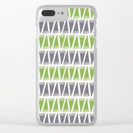 Tee Pee Greenery Clear iPhone Case