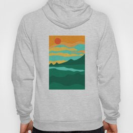 Abstract lanscape Hoody