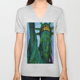 Statue of Liberty 4th of July tribute Unisex V-Neck