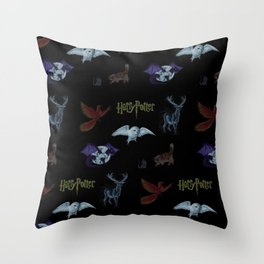 Harry Potter Creature Pattern  Throw Pillow