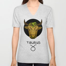 Taurus Unisex V-Neck