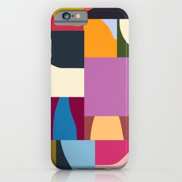 Ypres 02 Modern Mosaic Collage In Bright Hues iPhone Case