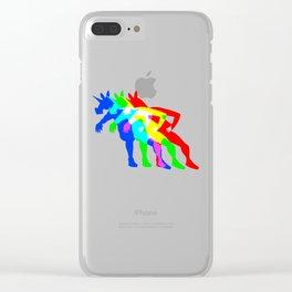 RGB Unicorn V02 Clear iPhone Case