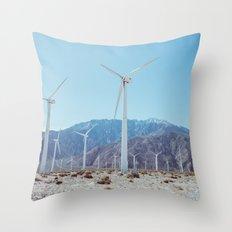 Palm Springs Windmills IV Throw Pillow