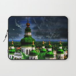 Domes of Trinity Cathedral, Chernigov, Ukraine Laptop Sleeve