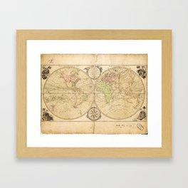 World Map by Carington Bowles (1791) Framed Art Print