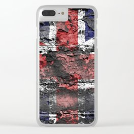 Union Jack (United Kingdom Flag) Clear iPhone Case