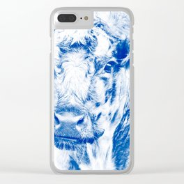 Ardnamuchan Coo - Blue Clear iPhone Case