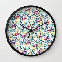 splatter Wall Clocks featuring Splatter by Regan McDonell Design
