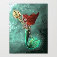 ariel Canvas Prints featuring Ariel by Laia™