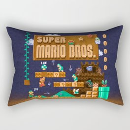 Mario Super Bros Rectangular Pillow