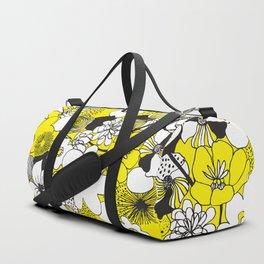 Floral Medley - Yellow Duffle Bag