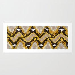 Reticulated Python Ver.2 Art Print