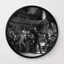 Henry Clay Speaking In The Senate Wall Clock