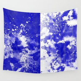 Simply Contrast 5 - Blue And White Study Wall Tapestry