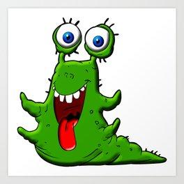Green Monster Art Print