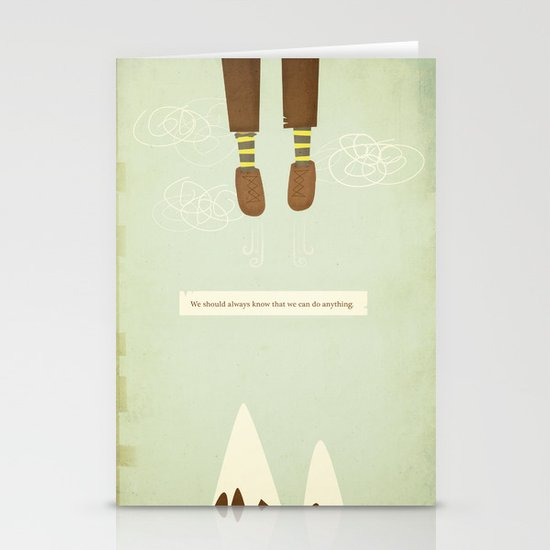 we should always know that we can do anything.  Stationery Cards