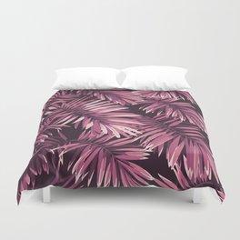 Rose palm leaves Duvet Cover