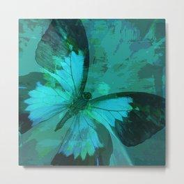 Butterfly Blue Metal Print