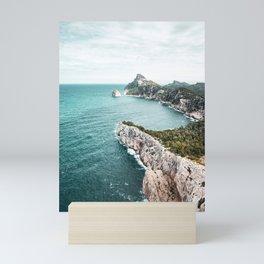 Seascape of Mallorca Poster, Spain Print, Cape Formentor, Peninsula, Nature, Landscape Photography Mini Art Print