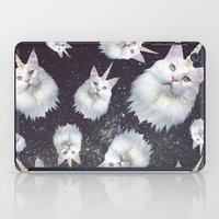 unicorn iPad Cases featuring Unicorn Cat by Oh Monday