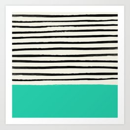 Mint x Stripes Art Print