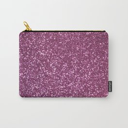 Pink Lavender Glitter with Silvery Highlights Carry-All Pouch