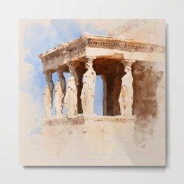 Acropolis Of Athens Metal Print