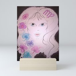 Virgo Zodiac Sign. The Maiden. It is an Earth sign. Mini Art Print