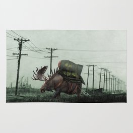Strategic Nuclear Moose - Fallout - And God Said Let Them Have Beer Rug