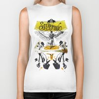 steampunk Biker Tanks featuring SteamPunk by Genco Demirer