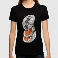 Lunar Fruit Black Womens Fitted Tee MEDIUM