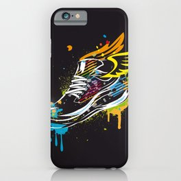 cool sneaker graffiti with wings iPhone Case