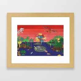 Happy Reunion and the Magic Tree Framed Art Print