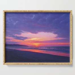 Broken sunset by #Bizzartino Serving Tray