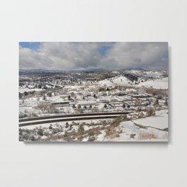 Prescott view in the winter Metal Print