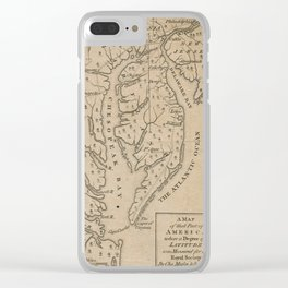 Vintage Map of The Chesapeake Bay (1769) Clear iPhone Case