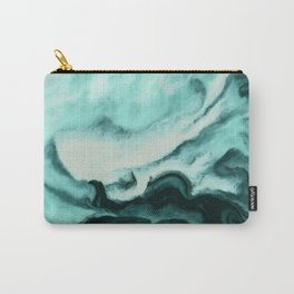 Abstract marbling mint Carry-All Pouch