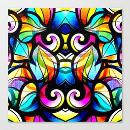 Colorful Abstract Stained Glass Design Canvas Print