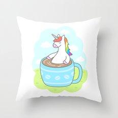 Unicorn Coffee Throw Pillow