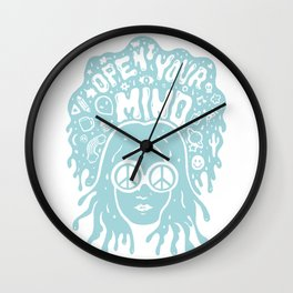 Open Your Mind in Mint Wall Clock