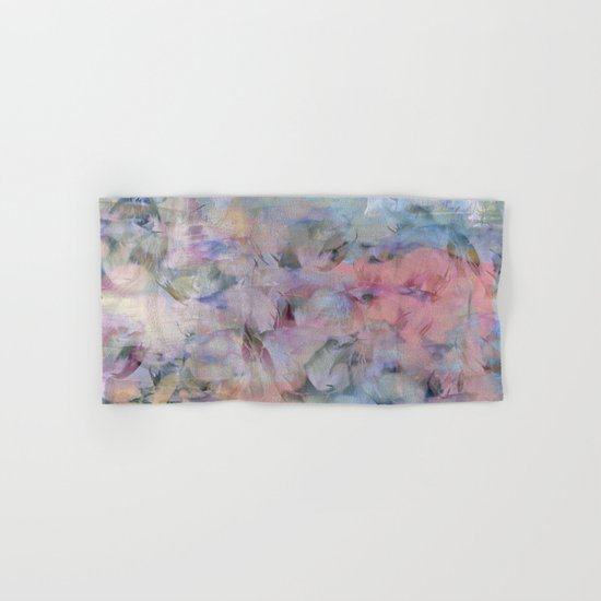 Painterly Soft Flora Abstract Hand & Bath Towel
