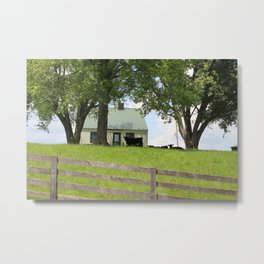 Th cow house Metal Print