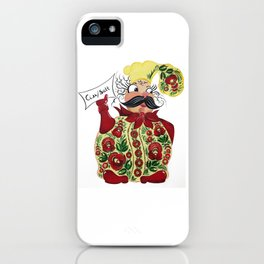 Little chef in petrykivka style iPhone Case